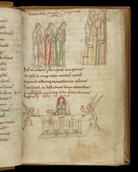 Coloured Drawing Of Hope Ascending To Heaven, In Prudentius's 'Conflict Of The Soul'